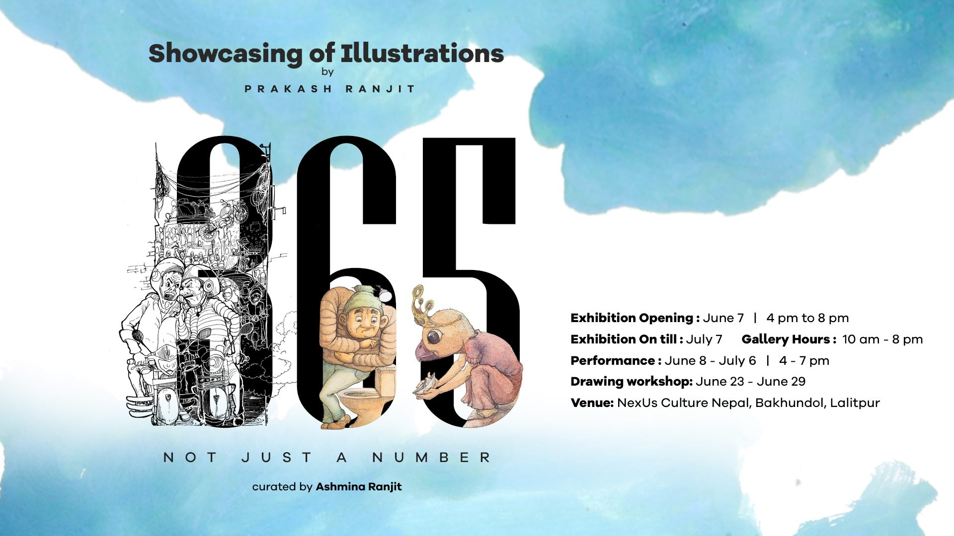 365, not just a number : Showcasing of Illustrations