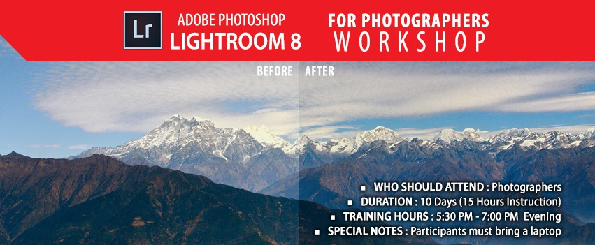 Adobe Photoshop Lightroom 8 for Photographers Workshop