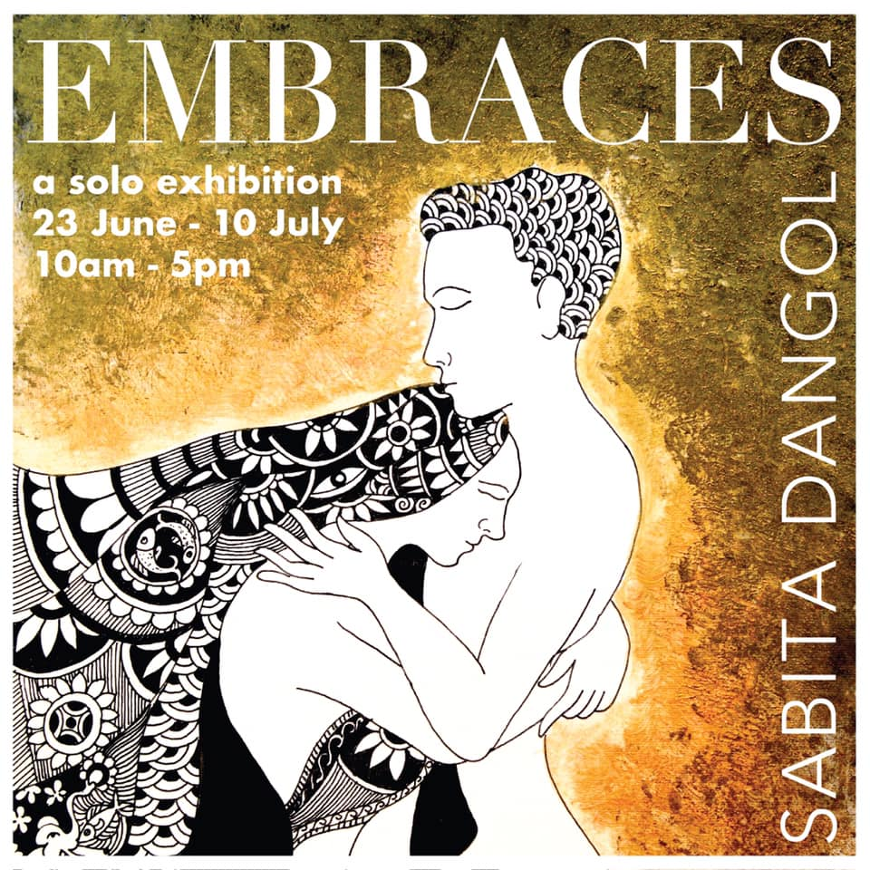 Embraces, Sabita Dangol's 5th solo exhibition at Image Ark