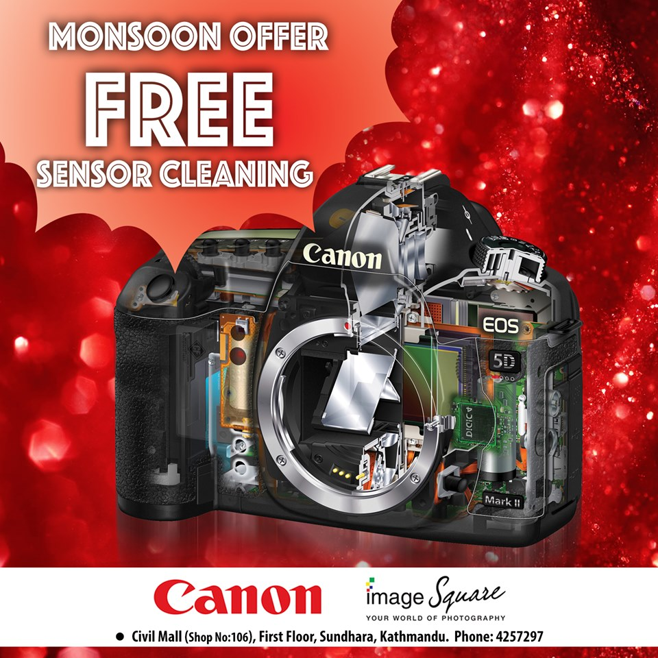 Canon Monsoon Offer – Free CMOS Sensor Cleaning