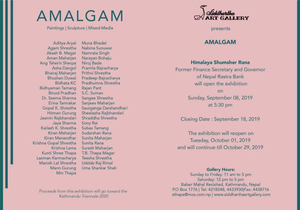 """Amalgam""an Exhibition of Paintings/Sculpture/Mixed-Media."