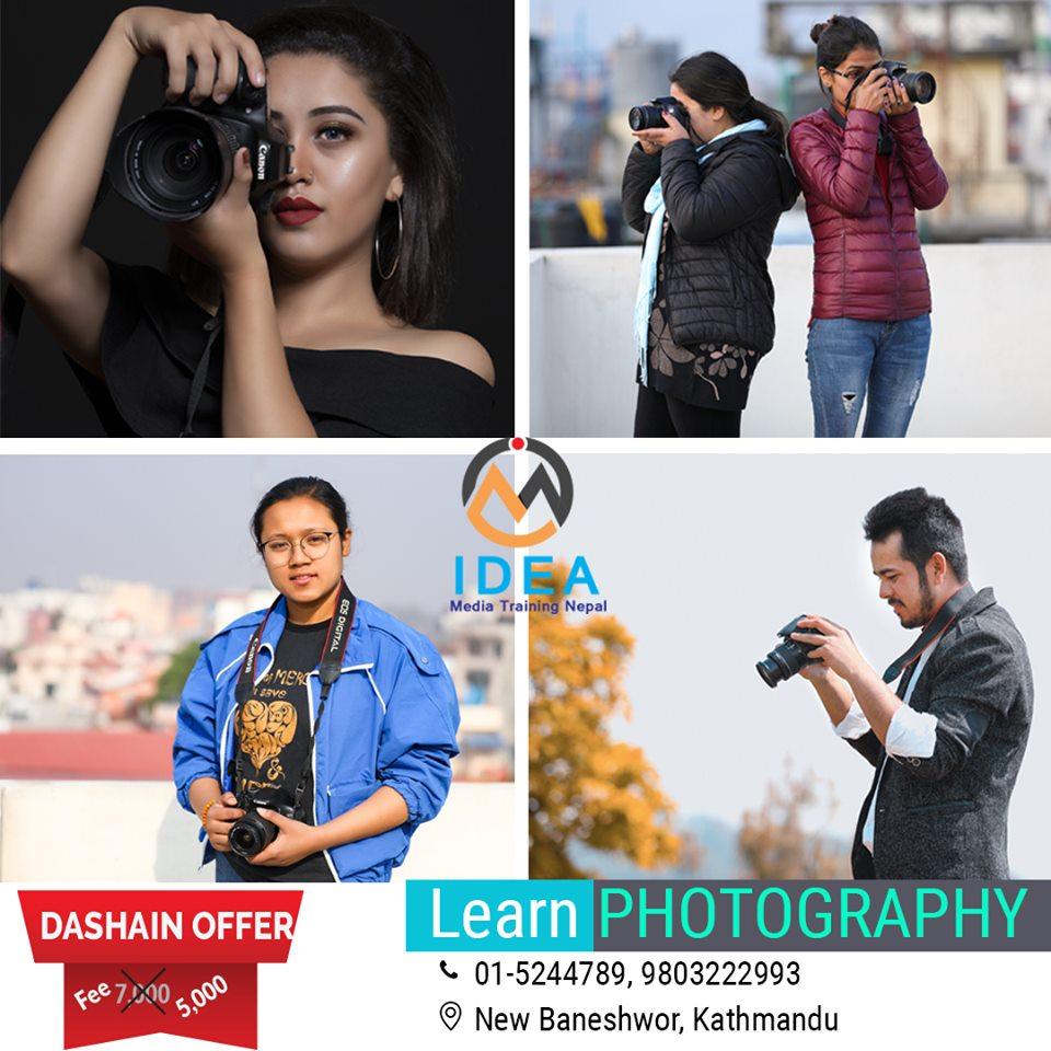 Photography Training at Idea Media Training Nepal