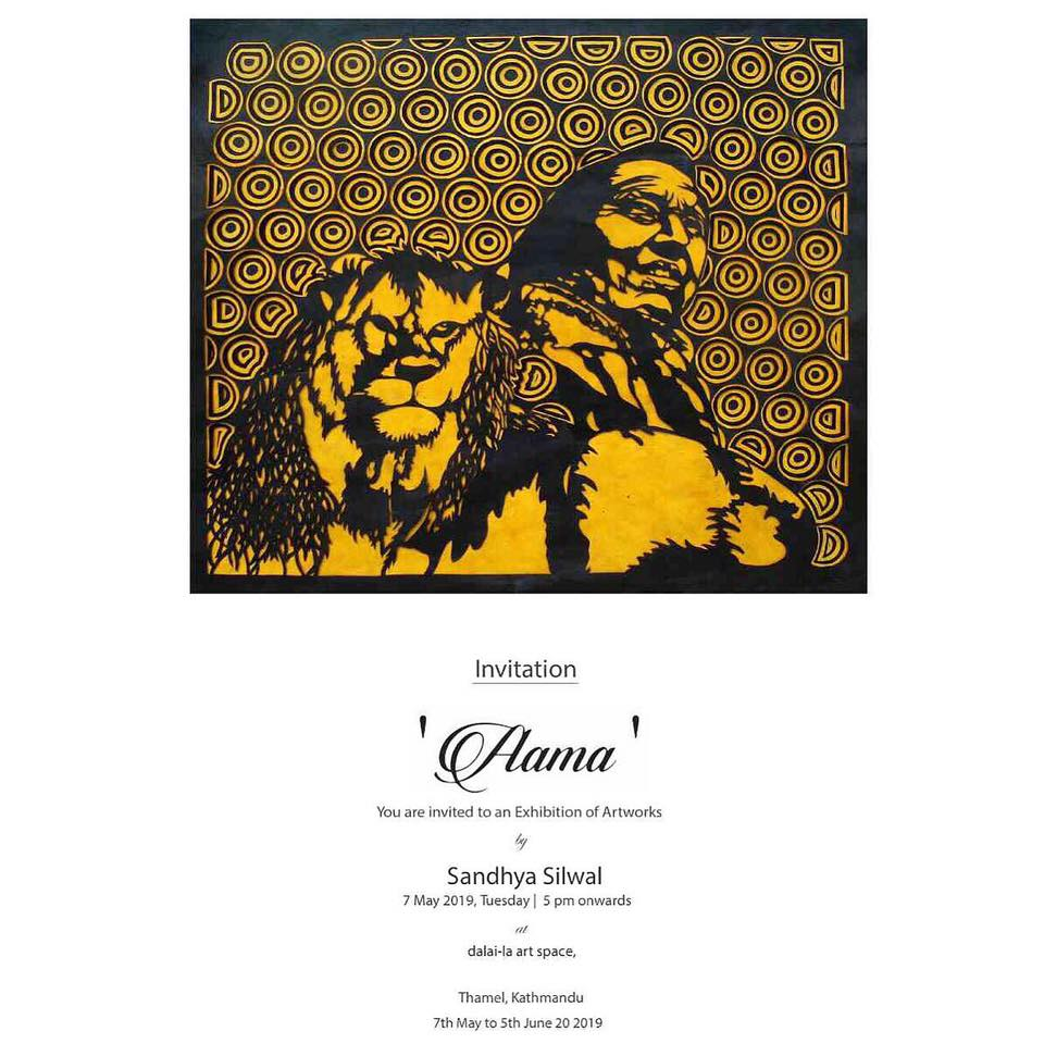 "Solo art exhibition ""AAMA"" at  Dalai-la Art Space"